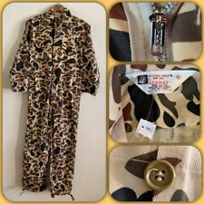 NOS 70s VTG Seaway Camo Duck Hunter Coveralls SMALL Military Workwear