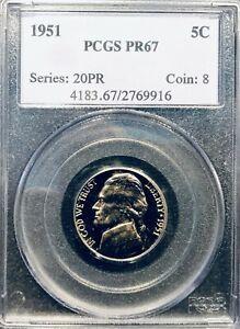 1951 PR67 PCGS Jefferson Nickel