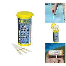 Pool Test Kit 50 Strips Water Chemistry Analyze Spa Swimming Chlorine Bromine pH