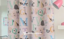 Animal Alphabet : TOP QUALITY BLOCKOUT KIDS Curtain - LIGHT PINK 130 x 233cm