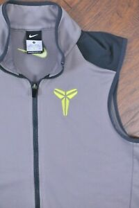Nike Kobe Bryant Zip Fleece Vest Gray Men's Small S