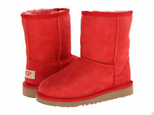 UGG Australia Girls Youth Kids Size 13 Red Classic Boots