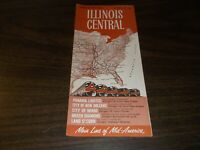 OCTOBER 1962 ILLINOIS CENTRAL RAILROAD CONDENSED SYSTEM PUBLIC TIMETABLES