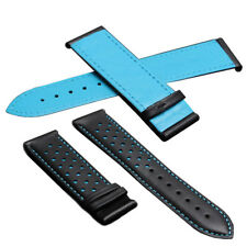 LEATHER WATCH BAND STRAP 22MM FOR TAG HEUER MONACO CARRERA TAN WS4T BLACK BLUE