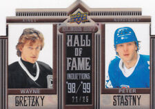 10-11 Upper Deck Wayne Gretzky Peter Stastny /25 Clear Cut Hall Of Fame 2010