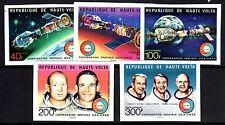 Upper Volta / Burkina Faso - 1975 Space / Apollo-Sojuz - Mi. 581-85 imperf MNH