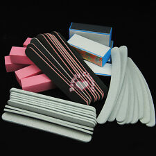 40PCS Nail Art Sanding Files Buffer Block Manicure Pedicure Tools UV Gel Set
