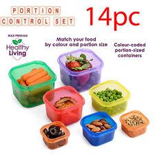 Portion Control 14PC Set repas containers Protéine Shaker saine Bundle BPA Free