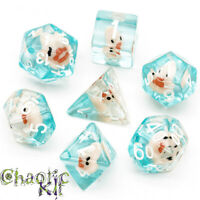 Rubber Duck Dice. Dungeons and Dragons. Polyhedral DND Set, RPG, Tabletop game