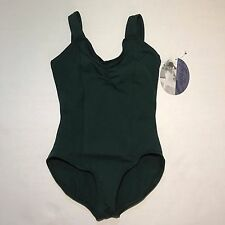 CAPEZIO LEOTARD PINCH FRONT TANK LEOTARD SIZE MEDIUM HUNTER GREEN BALLET DANCE
