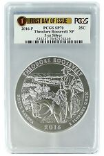 2016 P 5oz Theodore Roosevelt National Park Coin PCGS SP70 - First Day Of Issue