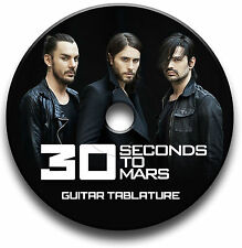 30 SECONDS TO MARS ROCK GUITAR TABS TABLATURE SONG BOOK SOFTWARE CD