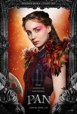 "Pan movie poster - Peter Pan poster - Rooney Mara (2015)  -  11"" x 17"""