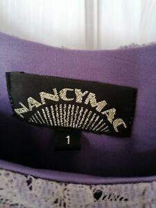 Nancy Mac Amelia Vintage Flower Lace Top in Purple Violet - BNNT - UK Size 10