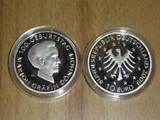 RR 10 Euro BRD Silbermünze  2009  J Gräfin Dönhoff   PP original Vfs  RR