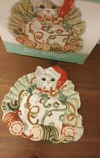 Kitty Kringle Fitz and Floyd Figurine Canape Plate