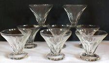8 verres coupes champagne à cotes glass