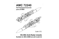 Advanced Modeling 1/72 Kh-58U Anti-Radar missile w/AKU- 58 launcher - AMC72240