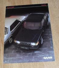Saab 900 Turbo Brochure 1983