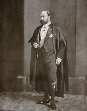 1910 PRINT KING EDWARD VII WEARING COSTUME OF BENCHER OF THE MIDDLE TEMPLE