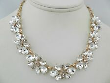 Charter Club Rose Gold-Tone Floral Crystal Necklace