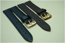 GENTS GENUINE SOFT LEATHER  WATCH STRAP BLACK,  BROWN, SIZES 18, 20, 22 mm