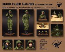 Escala 1/35 Modern Us Army Tank Crew en Europa - 1970 era