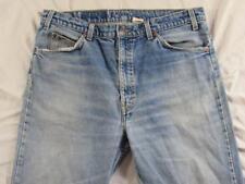 Levi 505 Straight Leg Regular Fit Hige Faded Denim Jeans Tag 38x34 Measure 36x34