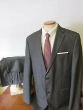 CHAPS by RALPH LAUREN 2 BTN POLY & RAYON SUIT 44L 38x31 Dark Gray