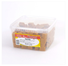 2KG Tub of Lonka Vanilla Flavour Fudge Bite Size Chunks Free Tracked Delivery