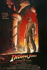 INDIANA JONES AND THE TEMPLE OF DOOM (1984) ORIGINAL ROLLED STYLE A MOVIE POSTER