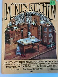 Jackie's Kitchen Volume II Dollhouse Miniature Furniture Craft Instruction Book
