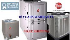 3.5Ton 14SEER 100K BTU Complete Rheem System Condenser&Evaporator Coil & Furnace