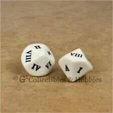 NEW 2 Roman Numeral D10 Large 20mm Dice Set Ten Sided RPG D&D Gaming 13/16 inch