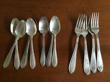 New ListingVictor Silver Co. Lot Matched Set Vintage Antique Silverware Plate 11 Pcs