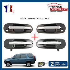 Poignée de Porte Exterieure Avant + Arriere + Gauche + Droite Honda Civic CRV