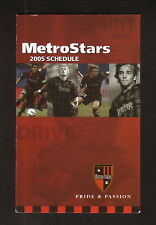 MetroStars--2005 Pocket Schedule--MLS