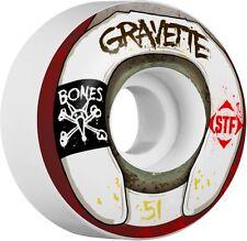 Bones STF 51mm V2 Street Tech Formula Pro Gravette Wasted Life Skateboard Wheels