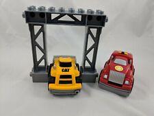 Mega Bloks Cat Construction Bulldozer Firetruck Lot