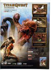 Une publicité des années 2000 pour le Jeu vidéo – Titan Quest – THQ