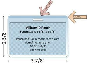 """Military Tag Slotted Laminating Pouch, 100/pk, 2-5/8"""" x 3-7/8"""" (5 MIL) Free Ship"""
