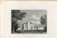 Escocia. Gordon Castle, Banffshire, Engraved By W.Faithon 1829-1831