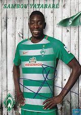 Sambou Yatabaré (5) + Werder Bremen + Saison 2016/2017 + Autogrammkarte +