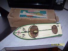 "Vintage 12"" Wood Speed Motor Boat W Box"