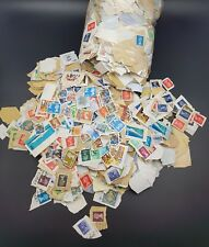 GB Mixed Used Stamps On Paper, 200g Taken Randomly From Large Bag Of Kiloware
