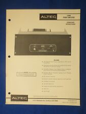 Altec 1594B Owner Operating Schematic Parts List Manual Original Real Thing v2