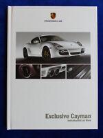 Porsche Exclusive Cayman S Typ 987c - Hardcover Prospekt Brochure 06.2007