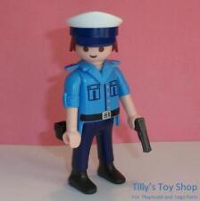 PLAYMOBIL City Life Figure-Mâle Officier de Police, Chapeau & Plastique pistolet-Neuf