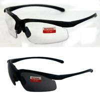 Two Pairs of Apex 2.0 Bifocal Safety Readers Glasses, One Clear and One Smoke