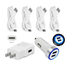 Home Phone Wall Car Charger Cable For Samsung Galaxy Note10 9 8 Moto G6+ Z Driod